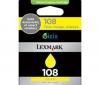 LEXMARK Atramentová náplň 108 - Žltá