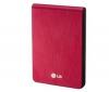 LG Prenosný externý pevný disk XD3 320 GB červený + Puzdro SKU-PHDC-1 + WD TV HD Media Player