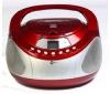 MPMAN Rádio budík CD/MP3 CSD27 - červený