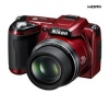 NIKON Coolpix  L110 - červený + Puzdro  CS-P03 + Pamäťová karta SDHC 8 GB + Nabíjačka 8H LR6 (AA) + LR035 (AAA) V002 + 4 Batérie NiMH LR6 (AA) 2600 mAh