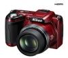 NIKON Coolpix  L110 - červený + Puzdro TBC4 + Pamäťová karta SDHC 8 GB + Nabíjačka 8H LR6 (AA) + LR035 (AAA) V002 + 4 Batérie NiMH LR6 (AA) 2600 mAh + Mini trojnožka Pocketpod