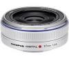 OLYMPUS Objektív Zuiko Digital 17mm f/2.8 Pancake strieborný