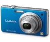 PANASONIC Lumix  DMC-FS10 - modrý  + Kožené puzdro DMW-PSS03XEK - čierne
