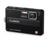 PANASONIC Lumix   DMC-FT10EF-K - Digital camera - compact - 14.1 Mpix - optical zoom: 4 x - supported memory: SD, SDXC, SDHC - black + Kompaktné kožené puzdro Pix 11 x 3,5 x 8 cm + Pamäťová karta SDHC 8 GB