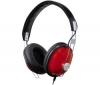 PANASONIC Slúchadlá RP-HTX7 cervené  + Adaptér Jack samica stereo 3,52 mm kovový/Jack samec stereo 6,35 mm kovový - Pozlátený