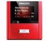 PHILIPS Lecteur MP3 GoGear RaGa 4 Go - rouge + USB nabíjačka - biela  + Slúchadlá STEALTH - čierne