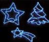 PIXMANIA Dekorácia na okno - 72 modrých LED diód