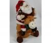 PIXMANIA Hrajúci a pohybujúci sa Dedo Mráz so sobom