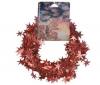 PIXMANIA Nehorľavá trblietavá girlanda s hviezdickami červená - 750 cm