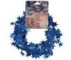 PIXMANIA Nehorľavá trblietavá girlanda s hviezdickami modrá - 750 cm
