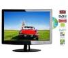 Q-MEDIA Kombinovaný televízor LCD/DVD Q15A2D + Stolík na televízor Esse Mini - frosted