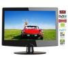 Q-MEDIA Kombinovaný televízor LCD/DVD Q19A2D + Stolík na televízor Esse Mini - čierny