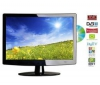 Q-MEDIA Kombinovaný televízor LCD/DVD Q22A2D + Stolík na televízor Esse Mini - frosted