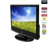 Q-MEDIA LED televízor QLE-2302 + Kábel HDMI - vidlica 90° - Pozlátený - 1,5 m - SWV3431S/10