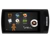 SAMSUNG Dotykový MP3 prehrávač  R'mix YP-R1 32 GB - čierny + Slúchadlá HOLUA S2HLBZ-SZ - strieborné