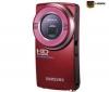 SAMSUNG Mini HD videokamera HMX-U20 - červená + Batéria IA-BH130LB + Pamäťová karta SDHC 4 GB