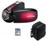 SAMSUNG Videokamera SMX-C20 - červená + puzdro CC1M+ SD karta 4 GB  + Pamäťová karta SDHC 8 GB