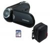 SAMSUNG Videokamera SMX-C20 - čierna + puzdro CC1M+ SD  karta 4 GB