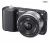 SONY Alpha  NEX-3A čierny + objektív 16 mm + Ruksak Expert Shot Digital - čierny/oranžový  + Pamäťová karta SDHC 16 GB