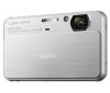 SONY Cyber-shot   DSC-T99 - Digital camera - compact - 14.1 Mpix - optical zoom: 4 x - supported memory: MS Duo, SD, MS PRO Duo, SDXC, MS PRO Duo Mark2, SDHC, MS PRO-HG Duo - silver + Púzdro Pix Compact + Pamäťová karta SDHC 16 GB + Batéria lithium N