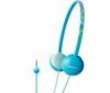 SONY Slúchadlá MDR-370LP - modré + Predl?ovaeka Jack 3,52 mm -nastavenie hlasitosti a inter mono/stereo - Pozlátený - 3 m