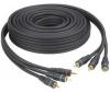 THOMSON Kábel 3RCA (YUV) - samec-samec - pozlátený - KCV252G - 10 m