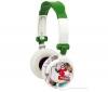 TNB Slúchadlá MUSIC TREND Electro - zelené/ biele  + Predl?ovaeka Jack 3,52 mm -nastavenie hlasitosti a inter mono/stereo - Pozlátený - 3 m