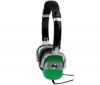 Slúchadlá VINTAGE CSV1GN - Zelené/Strieborné  + Predl?ovaeka Jack 3,52 mm -nastavenie hlasitosti a inter mono/stereo - Pozlátený - 3 m