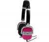TNB Slúchadlá VINTAGE CSV1PK - Ružové/Strieborné  + Adaptér Jack samica stereo 3,52 mm kovový/Jack samec stereo 6,35 mm kovový - Pozlátený
