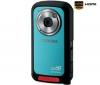 TOSHIBA HD videokamera Camileo BW10 - modrá + Pamäťová karta SDHC 4 GB + Nabíjačka na zapaľovač USB Black Velvet