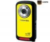 TOSHIBA HD videokamera Camileo BW10 - žltá  + Nylonové puzdro TBC-302 + Sieťová nabíjačka USB Black Velvet