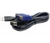 Kábel KVM - USB / VGA - 4,50 metrov - TK-CU15