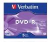 VERBATIM DVD+R 4,7GB (5 kusov) + RBNW-224 CD case