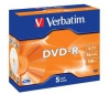 VERBATIM DVD-R 4,7GB (5 kusov) + RBNW-224 CD case