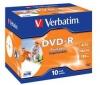 VERBATIM DVD-R možnost potlače 4,7 GB (sada 10 ks) + RBNW-224 CD case