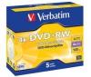 VERBATIM DVD+RW 4,7 GB (5 kusov) + RBNW-224 CD case